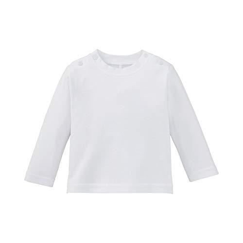 Bornino Shirt langarm - Langarmshirt für Babys - Baumwoll-Longsleeve mit Rundhalsausschnitt & Druckknöpfen an den Schultern - einfarbig