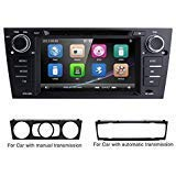 hizpo 7 Inch Car Stereo Multi-Touch Screen Radio CD DVD Player 1080P Video Screen 1 Din Car Stereo with GPS and Bluetooth for BMW 3 Series E90/E91/E92/E93 2006 2007 2008 2009 2010 2011 2012