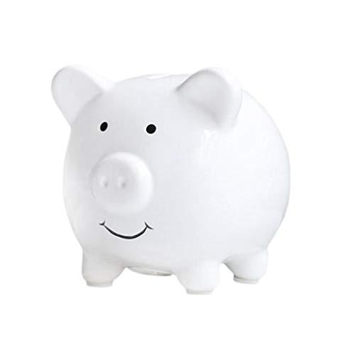 Huchas Hogar y cocina Huchas Preciosa cerámica hucha con monedas preciosa Caja de Ahorros del Banco personalizado Moneda del Banco exquisito Piggy Piggy Bank (blanco) Huchas Decoración del Hogar Hucha