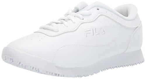 Fila Women's Memory Viable Slip Resistant Work Shoe Food Service, White, 10 B US