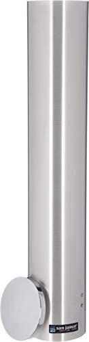 San Jamar C4400PF Stainless Steel Pull Type Foam Cup Dispenser, 23-1/2' Length