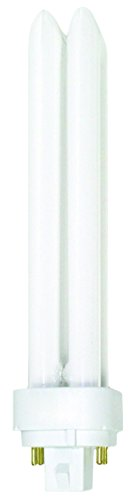 Luxrite LR20370 (4-Pack) CF26DD/E/827 26-Watt Double Tube Compact Fluorescent Light Bulb, Warm White, 2700K, 1800 Lumens, 4-Pin G24Q-3 Base