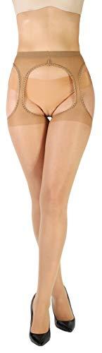 Giulia Love 20 Den Daino XL Strumpfhose mit offenem Schritt Intim Bereich offen cutout hautfarbe
