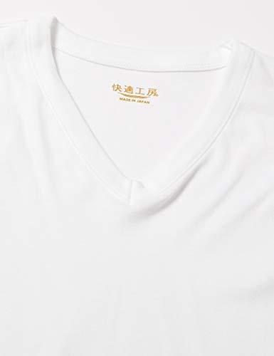 『[グンゼ] インナーシャツ 快適工房 年間 綿100% 半袖V首 KH5015 メンズ ホワイト 日本M (日本サイズM相当)』の3枚目の画像