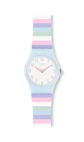 Swatch Unisex Erwachsene Analog Quarz Uhr mit Silikon Armband LL121