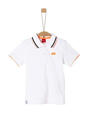 s.Oliver Junior Jungen T-Shirt kurzarm Polohemd, 0100 white, 104/110 /REG