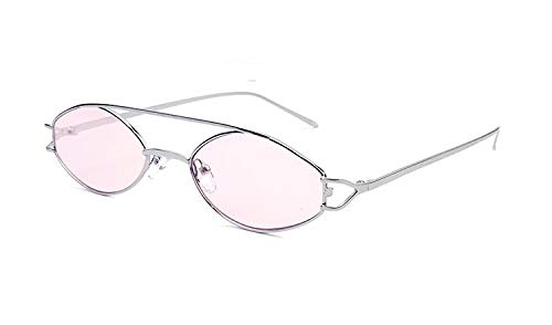 cjcaijun Gafas Gafas De Sol Elípticas Gafas De Sol Metálicas Gafas De Sol De Doble Personalidad Retro Punk Gafas de sol (Color : D)