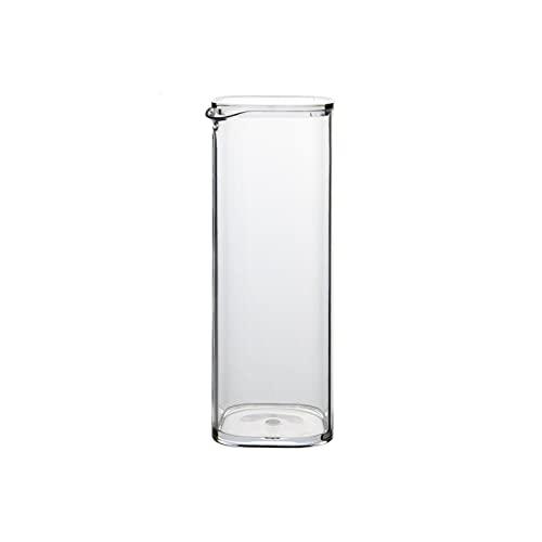 Jarra de Agua Cristal Jarra de plástico con cubierta de polvo Tetera resistente al alta temperatura del hervidor de alta temperatura para el jugo, la leche, las bebidas calientes y frías, café Jarras