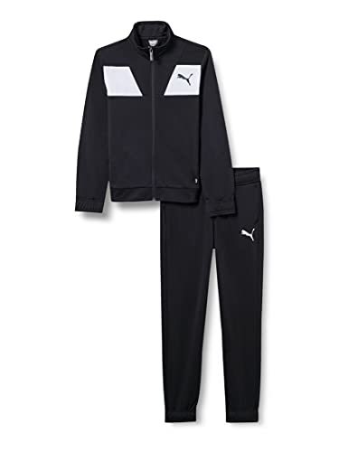 PUMA Jungen Poly Suit cl B Trainingsanzug, Black, 176