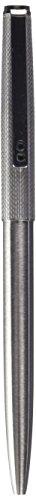 Inoxcrom City - Bolígrafo de punta redonda, guilloche de metal, color plateado