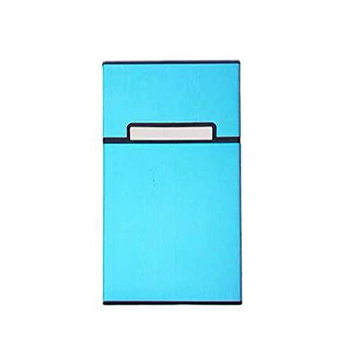 Bomoya Caja de cigarrillos de metal, portátil para mujer, para cigarrillos, caja de fumar de aleación de aluminio, diseño especial para dama, 10,5 x 6 x 1,6 cm
