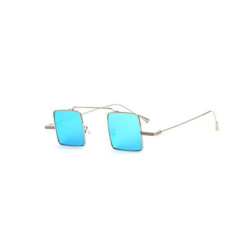 Actualización Cuadrado Primer Mirror Street Trends Gafas de sol Adecuado para hombres y damas Tintas literarias de las señoras Tinta reflectante del espejo de la jarra