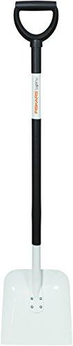 Fiskars Pelle, Largeur: 24 cm, Longeur: 123 cm, Lame en acier/Manche en aluminium, Noir/Blanc, Light, 1019602