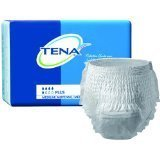 TENA Protective Underwear, Plus Absorbency Medium, Waist/Hip 34-44/by SCA