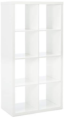 IKEA Kallax Bookcase Shelving Unit Display High Gloss White Shelf