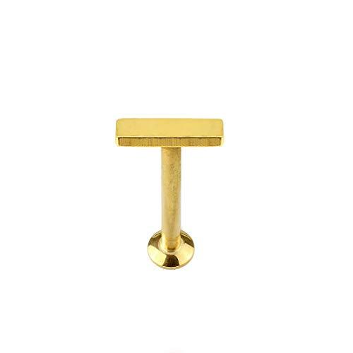 Paula & Fritz® UNIVERSAL Stud Labret Monroe Cartilage Balken 6mm Gold roségold schwarz Silber Edelstahl Chirurgenstahl 316L LSI261-1606_GD