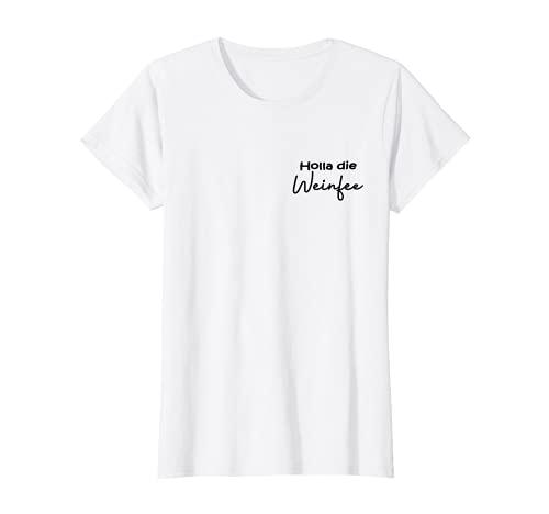 Damen Holla die Weinfee - Vino T-Shirt