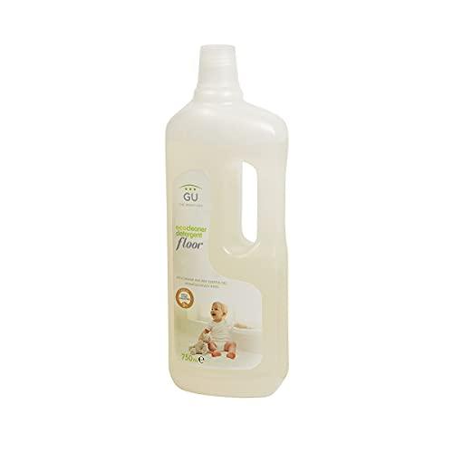 Detergente Líquido 750 ml - Materias Primas Vegetales - Para Suelos y Superficies Libre de Sulfatos y Alérgenos - Aroma de Naranja y Menta - Detergente Para Pieles Sensibles - GU Planet