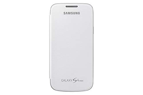 Samsung Flip - Funda para móvil Galaxy S4 Mini (Permite hablar con la tapa cerrada, sustituye a la tapa trasera), color blanco