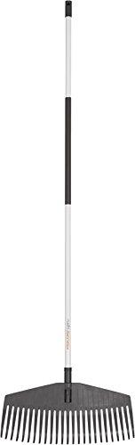 Fiskars Laubbesen, 25 Zinken, Breite 51 cm, Kunststoff-Zinken/Aluminium-Stiel, Weiß/Schwarz, Light, 1019606
