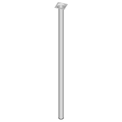 Element System 4 Stück Stahlrohrfüße rund, Tischbeine, Möbelfüße inklusive Anschraubplatte, Länge 80 cm, Durchmesser 30 mm, 4 Farben, 11 Abmessungen, weiß, 11100-00089