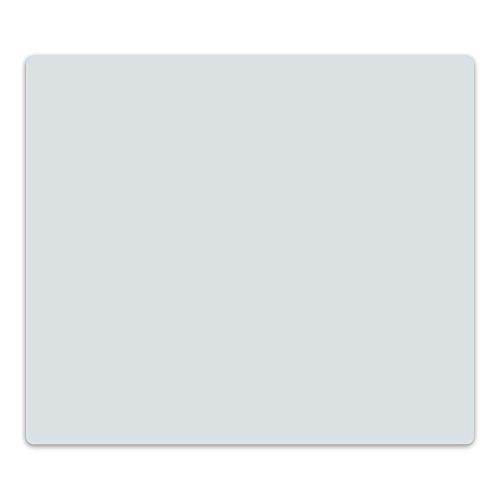 decorwelt | Herdabdeckplatte 60x52 cm Ceranfeldabdeckung 1-Teilig Universal Elektroherd Induktion für Kochplatten Herdschutz Deko Schneidebrett Sicherheitsglas Spritzschutz Glas Grau