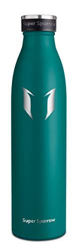 Super Sparrow Edelstahl Trinkflaschen | Premium Isolierflasche - 750ml | Sport-Wasserflasche | Auslaufsichere Kappe | BPA-frei | Ideale Thermosflasche für Schule, Outdoor, Fahrrad, Fitness