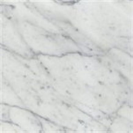 Italian White Carrara Marble Polished 12 x 12 Floor Tiles