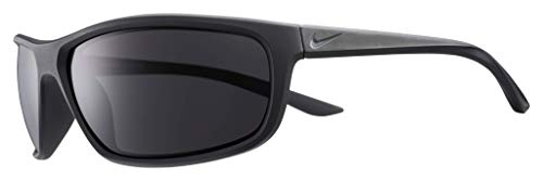 Occhiali da Sole Nike Rabid Ev1109 001 64-15-135 Unisex Matt Black Lenti Dark Grey