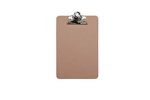 Schreibplatte Maulclassic, Klemmbrett, DIN A5 hoch, Hartfaser-Holz, Recycelbar, retro-Klemmer, 15 mm Klemmweite