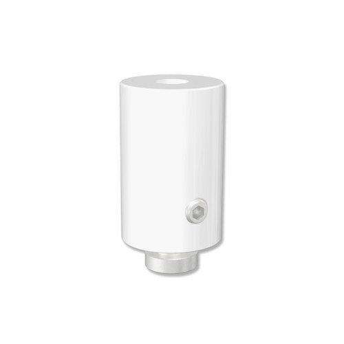 INTERDECO Deckenträger 2,5 cm Abstand Weiß für Gardinenschienen/Innenlaufstangen in 20 mm Ø, Sonius (2 Stück)