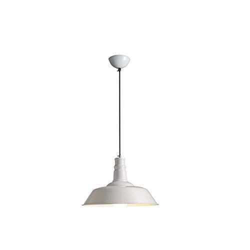 CHNOI Lámparas de araña de una Sola Cabeza de Hierro de Cuerda Retro Tapa de Pan de Personalidad/Forma Acampanada Lámpara Colgante de Pantalla de Lino (Color : B)