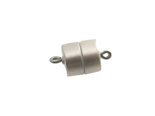 Magneetsluiting creative-kralen, olijf, 14x6,5 mm verschillende kleuren en maten in Duitsland gemaakt, sieraden halskettingen armbanden zelf maken 3x Trommel 9,5x10mm graniet