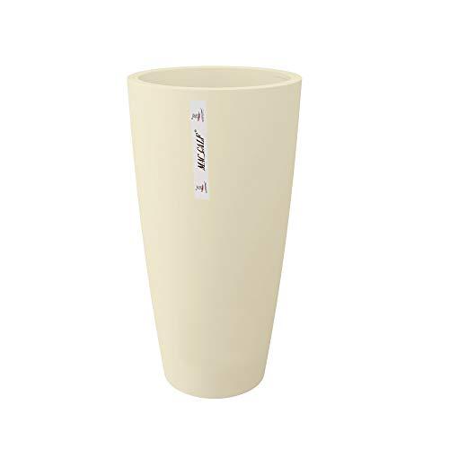 INCARTAMI-ITALIA Vaso Moderno Crema Altezza 70 DIAMETRI 35 ad Uso Interno ed Esterno con Cachepot Rimovibile per Pulizia