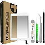 RepairPartsPlus iPad Air 2 Screen Replacement Glass Touch Digitizer Premium Repair Kit with Tools (White)