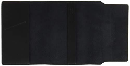 柔らかい山羊革のブックカバーブラック63KI23-10