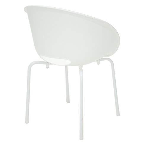 Cadeira Elena Perna Pintada Branco Summa - Tramontina