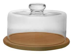 Altom Edwanex - Quesera con tapa de cristal (24 cm de diámetro)