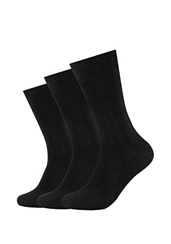 Camano Unisex - Erwachsene Socke 3-er Pack 3403, Gr. 39-42, Schwarz (black 05)