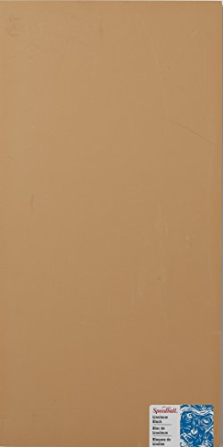 Speedball 4316 Premium Mounted Linoleum Block – Fine, Flat Surface for Easy Carving, Smoky Tan, 10 x 20 Inches