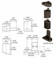 CRL 0P40022L Dark Bronze Left Max 47% OFF Hand Pivot and Top 0P400 Se Regular store Bottom