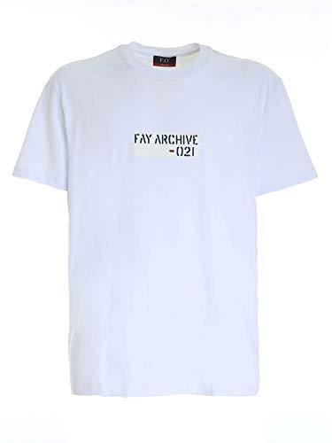 Fay Luxury Fashion Uomo NPMB3412880SHOB001 Bianco Cotone T-Shirt |...
