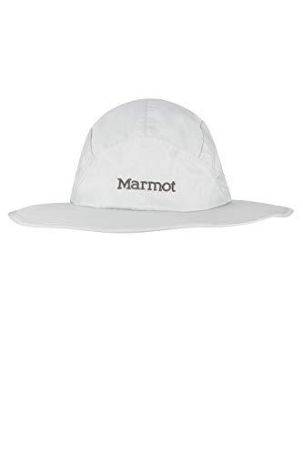 Marmot PreCip Eco Safari Hat Soleil, jarretière Ajustable, Chapeau été, Protection UV, Pliable, pour la pêche y Outdoor Mixte Adulte, Platinum, FR : M (Taille Fabricant : M/L)