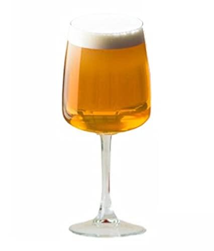 Hostelvia - Bicchieri da birra Edel 350 ml - Confezione da 6 - Vetro temperato - Adatto per microonde e lavastoviglie - Calici da vino