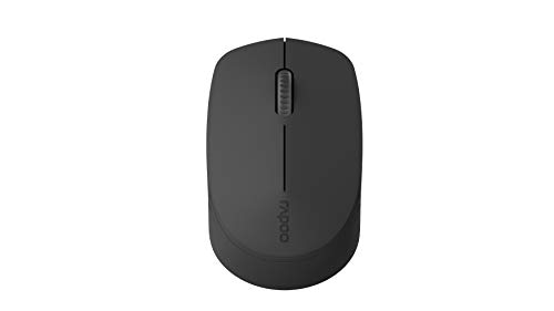 Rapoo M100 optische Silent Maus mit kabelloser Multi-Mode Verbindung, 1000 DPI Sensor, geräuschlose Tasten, dunkelgrau