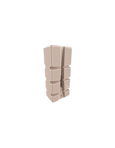 EDA Plastiques - Récupérateur d'eau de pluie - Récupérateur d´eau 310L - RECUP´ECO décor tressé BEIGE