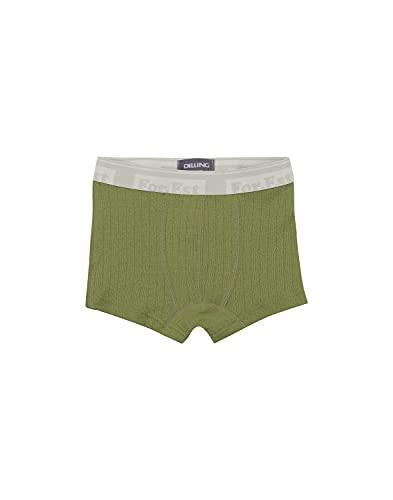 Dilling Boxershorts aus natürlicher Merinowolle für Kinder Avocado grün 98-104