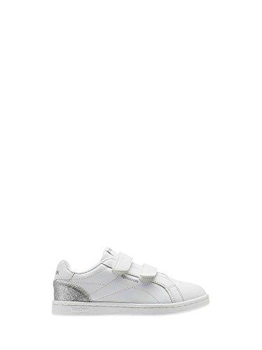 Reebok Royal Comp CLN 2V, Zapatillas de Tenis para Niñas, Blanco (White/Silver Sparkle 000), 32.5 EU