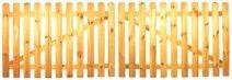 StaketenTor 'Standard' 300x100/100 cm - gerade – kdi / V2A Edelstahl Schrauben verschraubt - aus frischem Holz gehobelt – gerade Ausführung - kesseldruckimprägniert