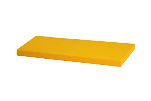 Kallax Regal Sitzauflage 76 x 39 x 4 cm Sitzpolster Sitzbank-Auflage Sitzkissen/Auflage für Sideboard als Sitzbank/unempfindlicher Bezug/Farbe GELB